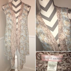 BAND OF GYPSIES | whispy waterfall front duster